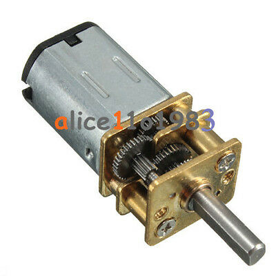 2pcs Micro Speed Reduction Gear Motor With Metal Gearbox Wheel Dc 6v 30rpm N20
