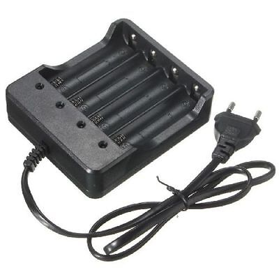 Eu Plug 4Slots Battery Charger With Protection 18650 Lithium-Ion Battery PT