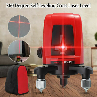 360 Degree Laser Level Vertical Horizontal Rotary Self Leveling Measuring Tool
