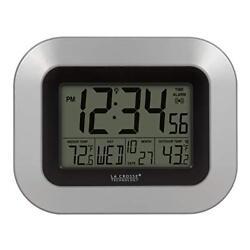 La Crosse Technology Atomic Digital Wall Clock with Indoor Outdoor Temperature
