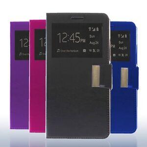 Funda-libro-ventana-Sony-Xperia-L1-protector-cristal-templado-opcional