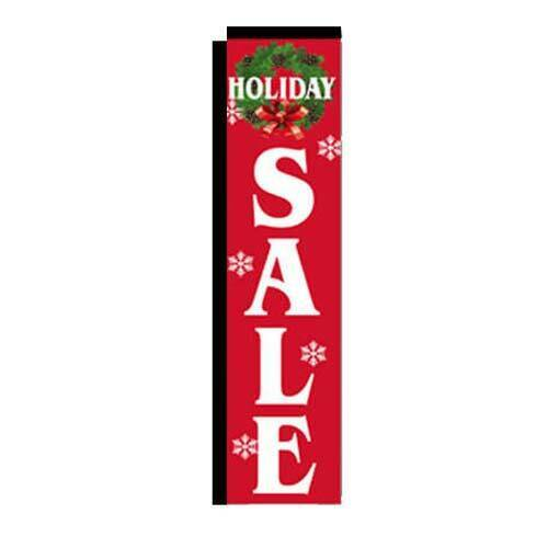 Holiday Sale Advertising Rectangle Banner Flag, Replacement 3x12ft Flag Only