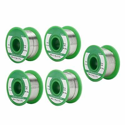 5 Pcs Rosin Core Lead Free Solder Wire 99sn0.3ag0.7cu For Electrical Soldering