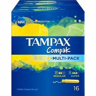 Compak Multipack Tampones 8 Regular +8 Super - Tampax