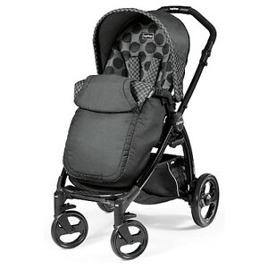 Brand New in Box: Peg Perego Book Plus NS Stroller in Pois Grey