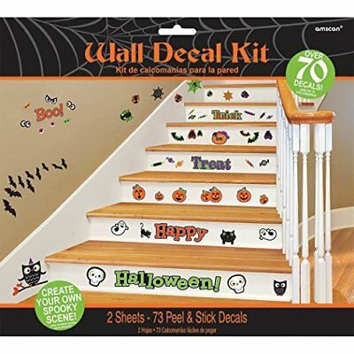 Halloween Family Friendly Wall Decal Kit Over 70 Decals NIP