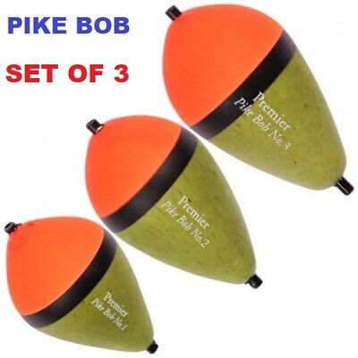 Bob Float (Premier Pike Bob. Pike Fishing Float Set (Set of 3. Sizes 1, 2 & 3))