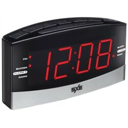 Westclox 80187 Plasma Alarm Clock, 1.8 in Display, LED Display