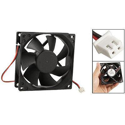 DC 12V Black 80mm Square Plastic Cooling Fan For Computer PC Case LW SZUS