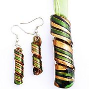 Lampwork Necklace Earrings