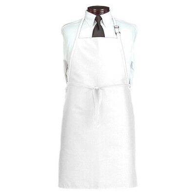 White Polyester Bib Apron - No Pockets