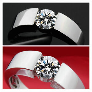 Solitaire rhodium plated cubic zircoinia 100% NEW