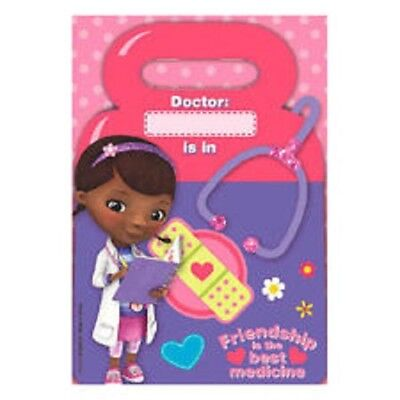 Disney Doc McStuffins Birthday Party Loot Treat Favor Bags 2 packs of 8 = 16Bags](Doc Mcstuffins Birthday Party)