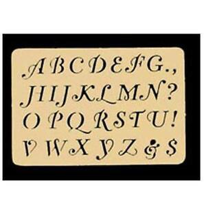Brass stencils ebay for Metal stencil set letters