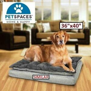 NEW ORTHOPEDIC PET NAPPER 36x40 2017ND-35 244108281 BROWN PETSPACES DOG BED