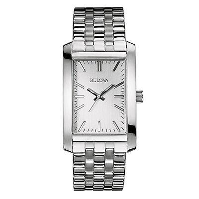 Bulova Corporate Collection Men's Quartz Silver-Tone 29.5mm Watch 96A157