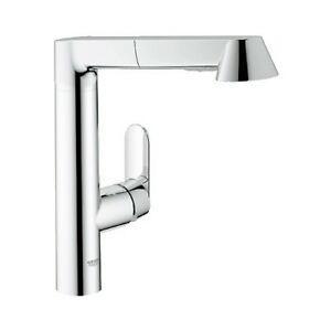 Grohe 3217800E K7 Kitchen Faucet Dual Spray Pull Out Chrome