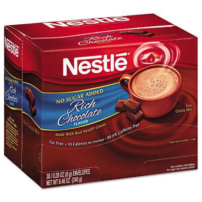 No-Sugar-Added Hot Cocoa Mix Envelopes, Rich Chocolate, 0.28 oz Packet, 30/Box - No Sugar Added Hot Chocolate