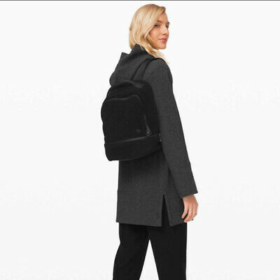 Lululemon City Adventurer Backpack Sherpa Mini Black NWT New Fleece Soft 10L