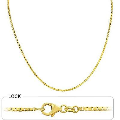 10.00 gm 14k Solid Gold Yellow Men's Women's Box Necklace Chain 1.70 mm 20""