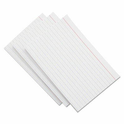 Ruled Index Cards 3 X 5 White 100pack 48 Packs