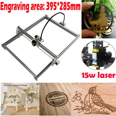 Mini Cnc 3040 Router Kit 15w Laser Module Wood Carving Engraving Diy Machine Us