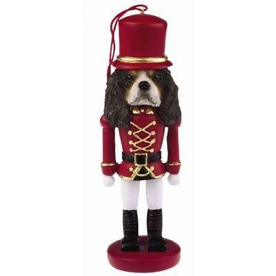 Tri Cavalier King Charles Spaniel - Cavalier King Charles Spaniel Tri Dog Toy Soldier Nutcracker Christmas Ornament
