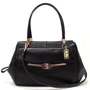 Coach Madison Black Leather Handbag