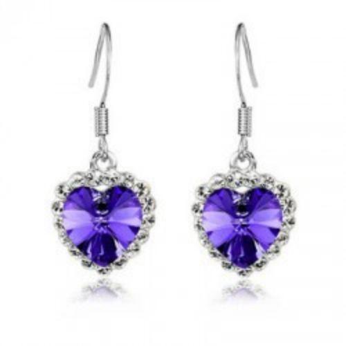Swarovski Heart Earrings Ebay