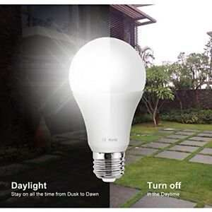 NEW 7W Dusk to Dawn Light Bulb x2 Built-in Photosensor Detection