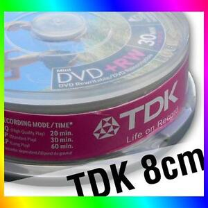 10 TDK 8cm DVD+RW Mini Disc for Sony Hitachi Panasonic Samsung Canon camcorders
