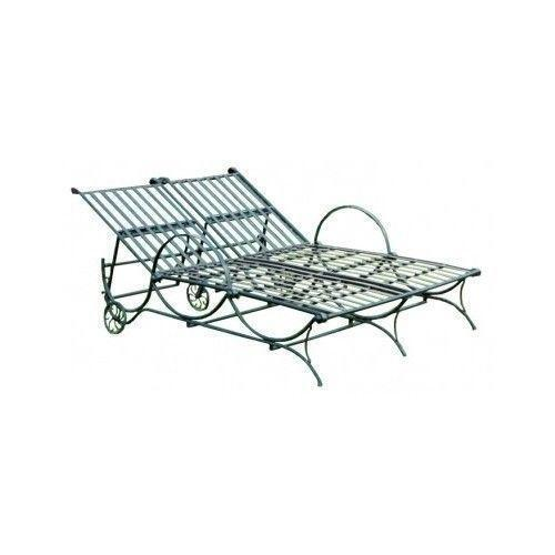 Iron chaise lounge ebay for Cast iron chaise lounge
