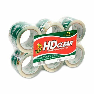 Duck Hd Clear Extra Wide Packaging Tape - 3 Width X 55 Yd Length - Duc0007496