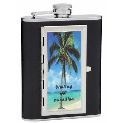 (Design Your Own 6 oz Cigarette Holder Hip Flask)