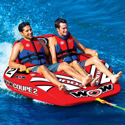 WOW World Watersports Inflatable 2-Person Rider Towable Coupe Cockpit Tow Tube