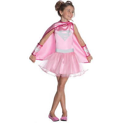Pink Supergirl Tütü Kostüm Kleid Mittelgroß Mädchen 8-10 - Supergirl Tutu Kinder Kostüme