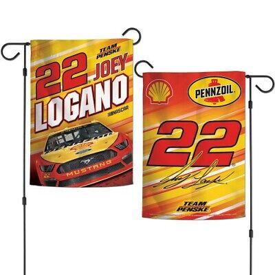 Nascar Garden Flag (Brand New Nascar Racing #22 Joey Logano 2 Sided 12.5 X 18