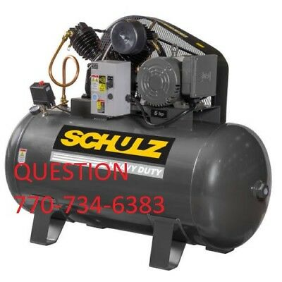 Schulz Air Compressor - 5hp Three Phase - 80 Gallon Tank - 20cfm - New