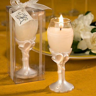 72 Heart Design Champagne Flute Candle Favor Wedding Favors Bridal Shower](White Plastic Champagne Flutes)