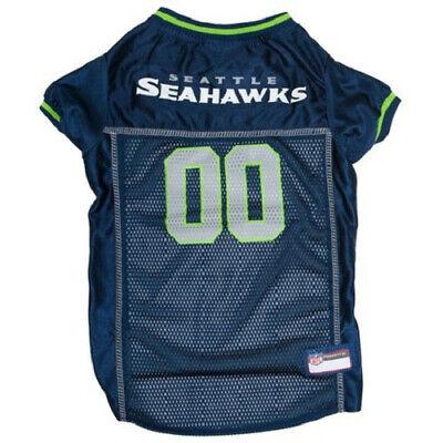 Navy Dog Football Jersey - New Seattle Seahawks Mesh Pet Dog Football Jersey Navy Blue SZ Medium