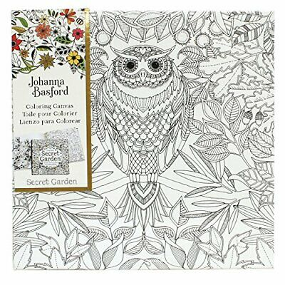 Art Alternatives Johanna Basford Secret Garden Coloring Canvas-Owl