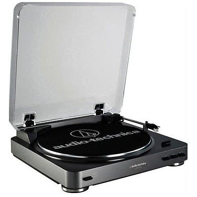 Audio-technica At-lp60bk-usb Fully Automatic Belt-drive Stereo Turntable [usb &