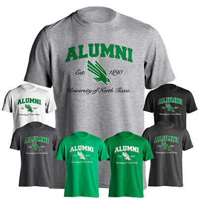 University of North Texas UNT Mean Green Alumni Logo Short Sleeve T-Shirt