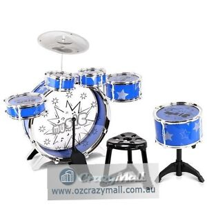 Mini Size Junior Drum Kit 8 Piece Set Blue Melbourne CBD Melbourne City Preview