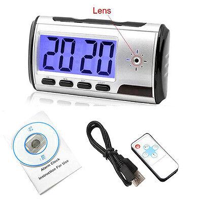 Spy Camera Alarm Clock Video Recorder Hidden Nanny Cam DVR Motion Detection