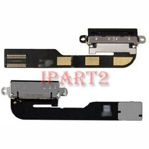 Replacement Dock Connector Charging Charger Port Flex Cable for iPad 2 (Black)