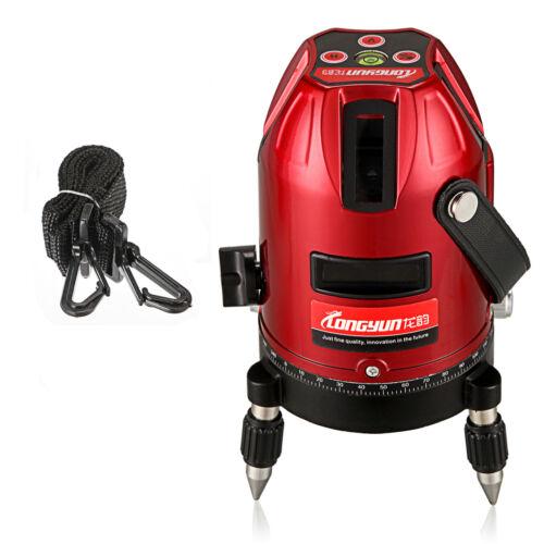 Automatische Laserwasserwaage Rot Laser Ebene Werkzeug 5 Linie 6 Punkte 4V1H