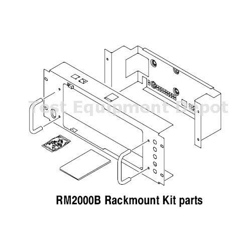 Tektronix RM2000B TDS1000B & TDS2000B SP Oscilloscopes Rackmount Kit