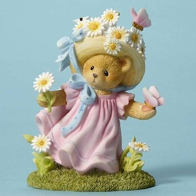New Enesco Enesco Cherished Teddies Daisy with Butterflies Figurine