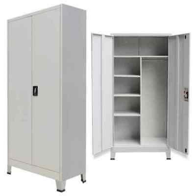 Locker Cabinet With 2 Doors Steel Office School Storage Organiser 6 Compartments